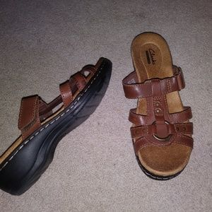 Clarks Women's Hayla Theme Wedge Sandal